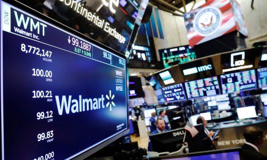 Walmart Posts Biggest U.S. Sales Rise in a Decade, Shares Soar
