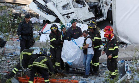 Italian Media: Death Toll Rises to 41 in Bridge Collapse