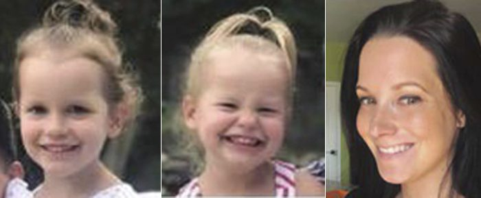 Bella Watts, Celeste Watts, and Shanann Watts in file photos. The cause of death for the three females may have been strangulation. (The Colorado Bureau of Investigation via AP)