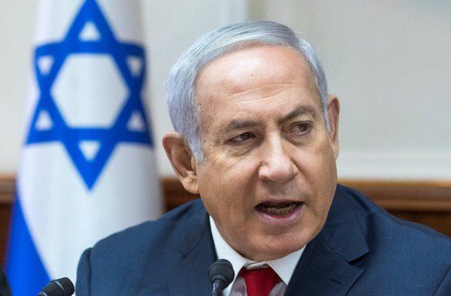 Israeli Prime Minister Benjamin Netanyahu attends the weekly cabinet meeting at his office in Jerusalem Aug. 12, 2018. (Jim Hollander /Pool via Reuters)