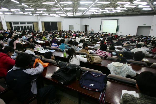 Students attend a lesson at the Northeast Normal University on March 22, 2007 in Changchun of Jilin Province, China. (China Photos/Getty Images)