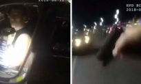 Video: Police Shooting After Fleeing Suspect Runs Over Officer's Foot