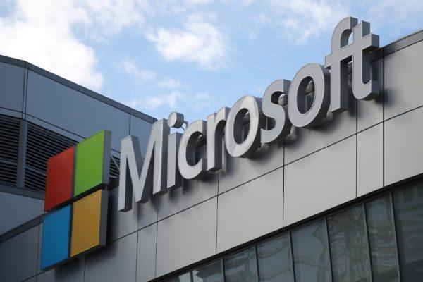 A Microsoft logo.