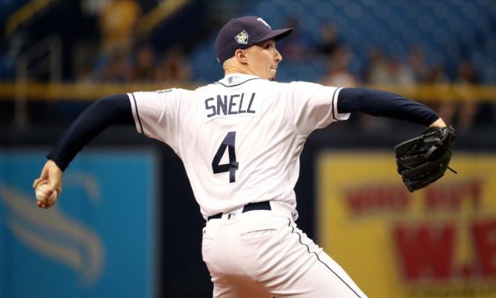 d1410c3cdb6 Tampa Bay Rays starting pitcher Blake Snell throws a pitch during the  second inning against the