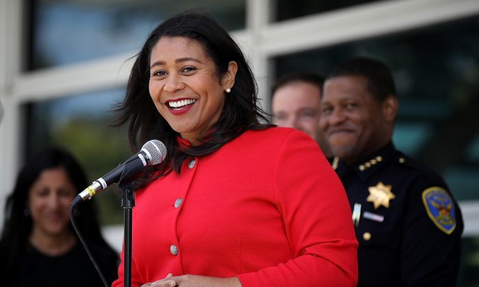 San Francisco Mayor London Breed on July 12, 2018 in San Francisco. Breed wants to open the nation's first public facility for injecting illegal drugs. (Justin Sullivan/Getty Images)