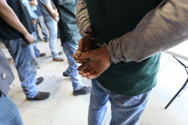 ICE executes a federal criminal search warrant at a business in north Texas on Aug. 28, 2018. (ICE)