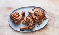 Double-Roasted Chicken Legs With Hoisin Glaze