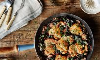 Chicken and Swiss Chard in Cider-Cream Sauce