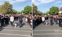 Son of Killed Police Officer Gets Welcome at First Day of Kindergarten