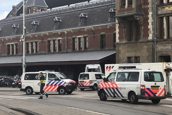 Suspect shot and injured after stabbing at Amsterdam train station
