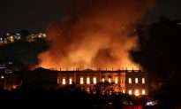 Massive Fire Tears Through Rio's 200-Year Old National Museum