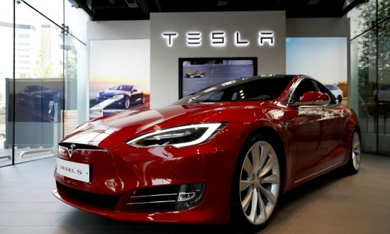 A Tesla Model S Electric Car Is Seen At Its Dealership In Seoul South Korea