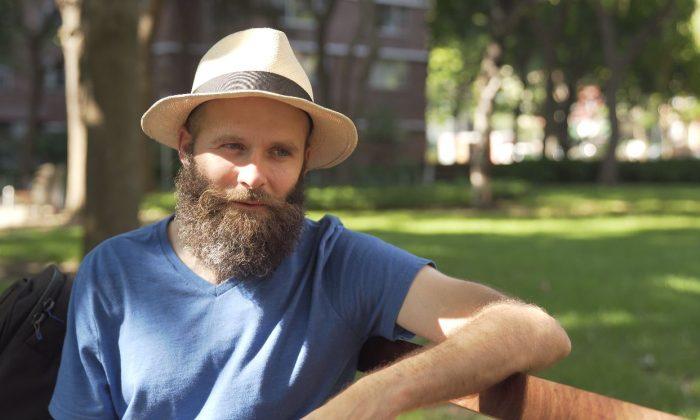 Guitar virtuoso Nemanja Rebic in Chelsea, New York City, in August 2018. (Tal Atzmon)