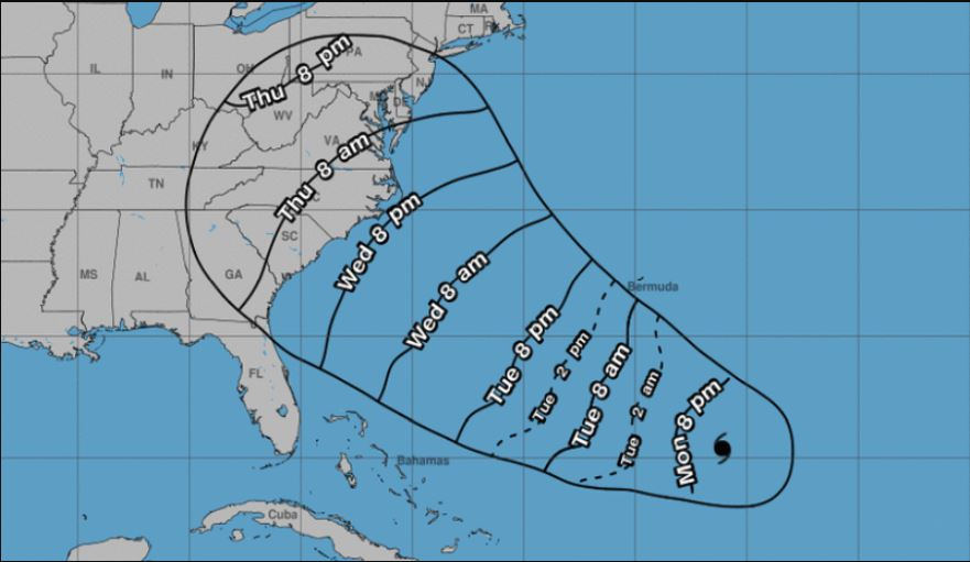 The Nhc Said Florence Is 1170 Miles East Southeast Of Cape Fear In North Carolina Moving West Northwest At 13 Mph Nhc