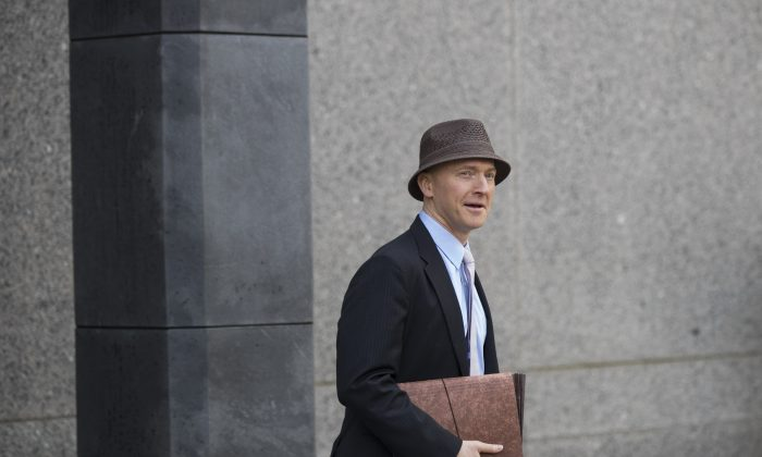 Carter Page arrives at a courthouse in New York City on April 16, 2018. (Drew Angerer/Getty Images)