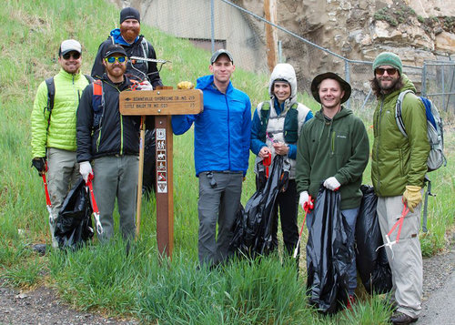 The Salt Lake CleanUp crew on National CleanUp Day 2017. (Courtesy of Clean Trails)