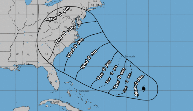 In its 5 p.m. Sept 10 update the NHC said Florence is 1,170 miles east-southeast of Cape Fear in North Carolina moving west-northwest at 13 mph