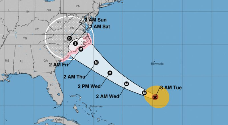 Hurricane Florence, Category 4 storm