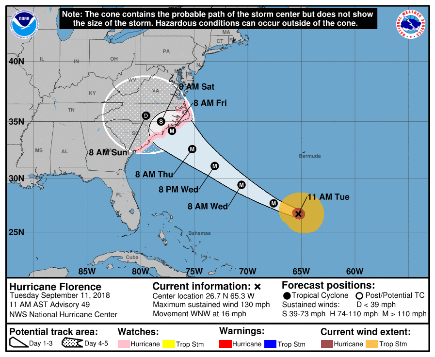 Over 722,000 without power as Florence batters Carolinas