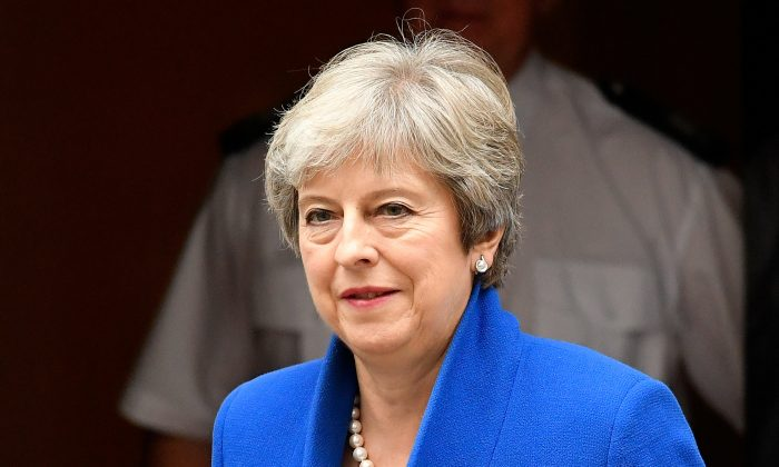 Britain's Prime Minister Theresa May leaves Downing Street in London, September 11, 2018. (Reuters/Toby Melville)