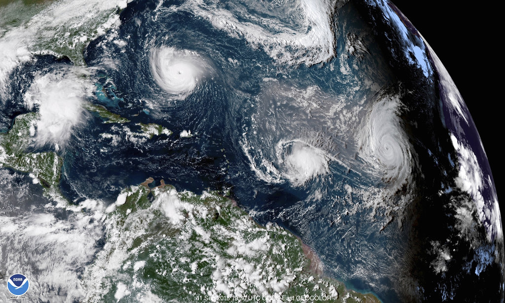 Hurricane Florence satellite image shows storm