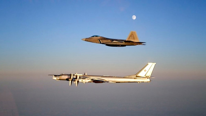 US F-22 Jets Intercept Russian Bombers for a Second Day in a Row, NORAD Says