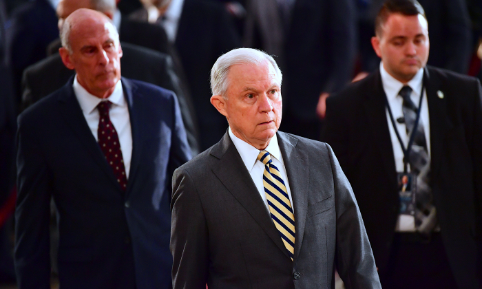 Attorney General Jeff Sessions in Washington, DC, on Aug. 31, 2018. (Kevin Dietsch-Pool/Getty Images)