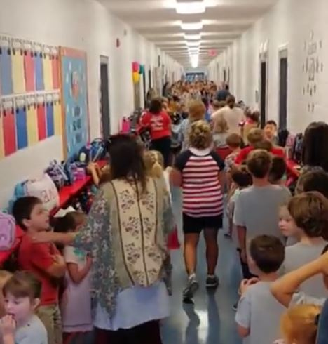 Students sing song ahead of Hurricane Florence