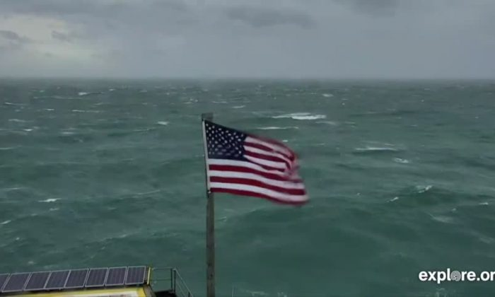 Flag affected by Hurricane Florence