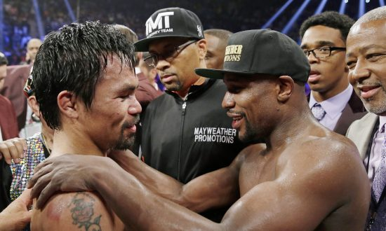 On Again? Mayweather Says He and Pacquiao Will Fight