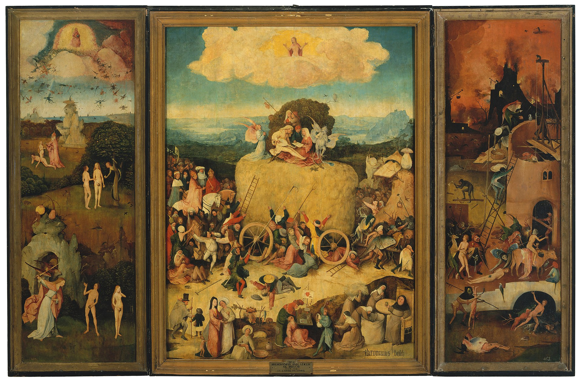 Grasping at Straw in Hieronymus Bosch\'s \'The Haywain\'