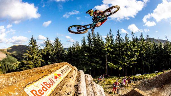 Atherton performs freeride-style jump