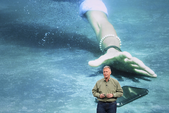 Phil Schiller, senior vice president of worldwide marketing at Apple Inc., speaks during an event at the Steve Jobs Theater in Cupertino, California, U.S., on Wednesday, Sept. 12, 2018. (David Paul Morris/Bloomberg via Getty Images