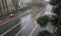 Super Typhoon Wrecks Buildings, Trees in Hong Kong