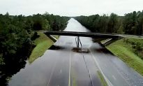 I-40 in North Carolina Turns Into a River Due to Florence