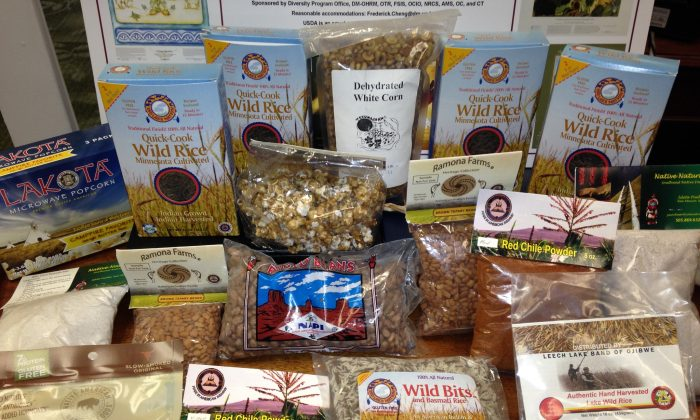 A sampling of foods produced for sale by Native American businesses. (John Lowery / USDA)