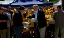 Trump Hands Out Warm Meals to Florence Victims