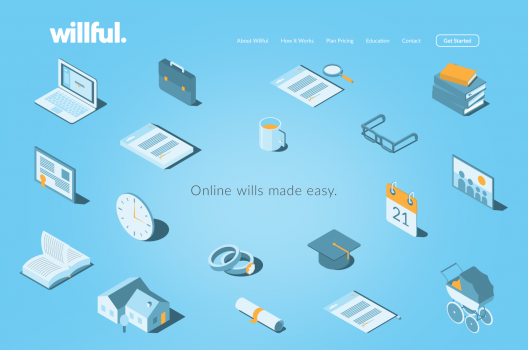 Willful's landing page (Courtesy Willful)
