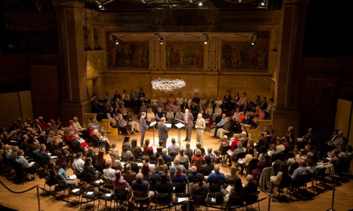 Gallicantus performing at Princeton University Concerts Up Close. (Andrew Wilkinson)