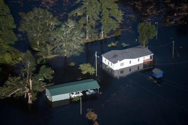 Floodwaters from Hurricane Florence