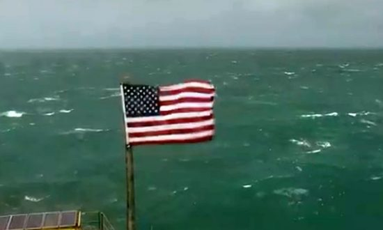 Video: Remains of American Flag Hang on Tower After Hurricane Florence