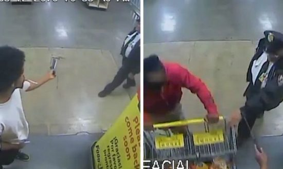Police Looking for Man Who Cut Security Guard With Machete on Video