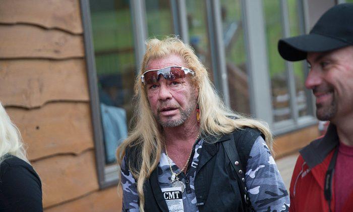 'Dog the Bounty Hunter,' Duane Chapman films a segment on June 28, 2015 in Malone, N.Y. (Scott Olson/Getty Images)
