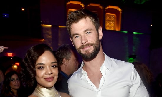Photos of Chris Hemsworth and Tessa Thompson Show 'Men In Black' Spinoff Set