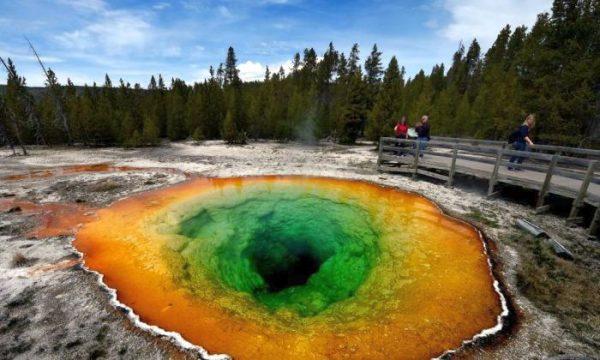 yellowstone super volcano ear spring