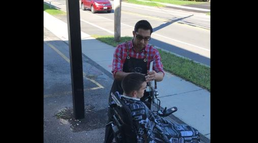New York Barber Goes Viral After Giving Man in Wheelchair a Haircut