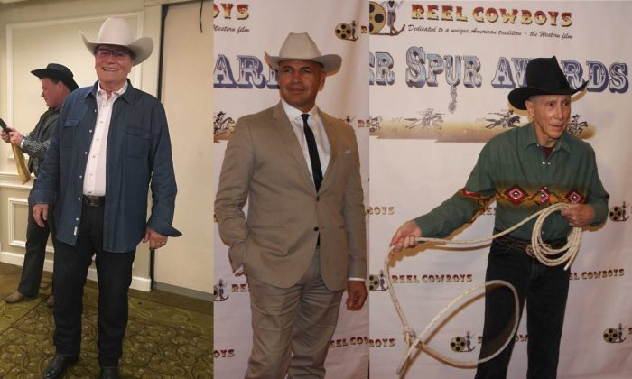 (L-R) Patrick Wayne, Billy Zane and Johnny Crawford attend the 21st Silver Spur Awards in Studio City, Calif. on Sept. 21, 2018. (Linda Jiang/The Epoch Times)