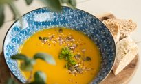 Easy Roasted Butternut Squash, Sweet Potato, and Carrot Soup Recipe