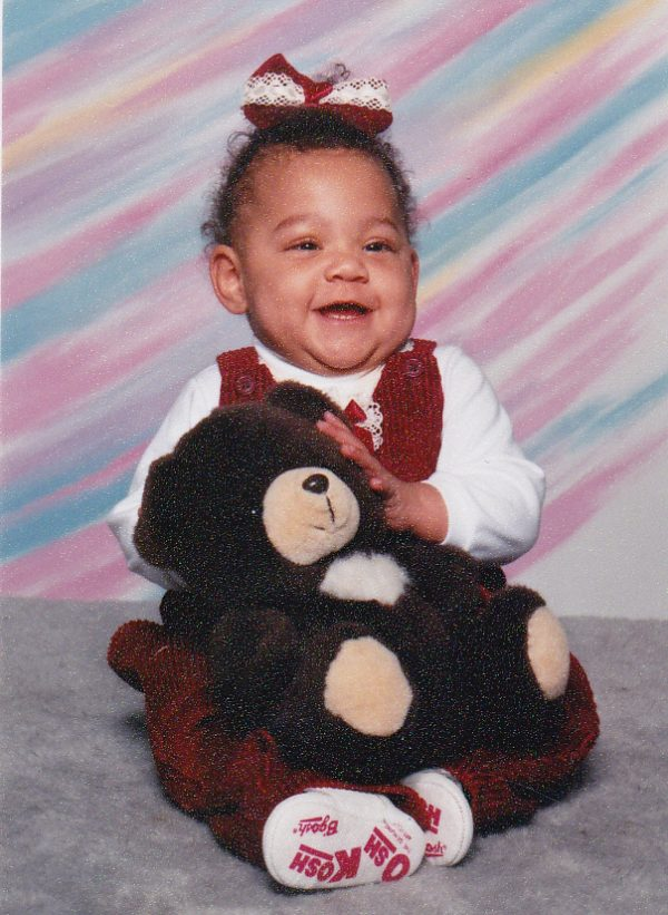 Angel Yeadon as a baby