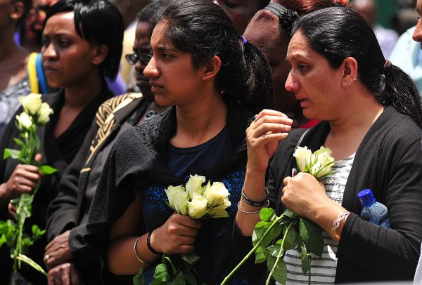 Relatives of victims of the Westgate shopping mall attack in Nairobi, Kenya.